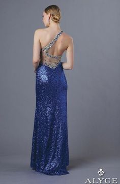 Another image of Alyce BDazzle 35611 One Strap Sequin Gown