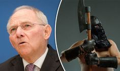 GERMAN finance minister Wolfgang Schäuble has been mocked as the 'Mad Executioner of Europe' after Britain's vote to Leave the EU.