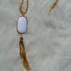 << White Tassel Necklace >> This necklace is on trend! It's pretty white color can be paired with anything! Twang Boutique  Jewelry Necklaces