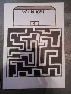 Werkblad - Zoek de weg naar de winkel