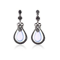 Drop Earring With Black Spinel   Scott Kay   www.goldcasters.com