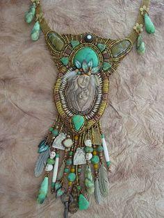 Funky Jewelry, Seed Bead Jewelry, Jewelry Art, Beaded Jewelry, Statement Jewelry, Pendant Jewelry, Fashion Jewelry, Bead Embroidered Bracelet, Bead Embroidery Jewelry