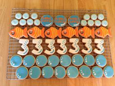 Bubble Guppies cookies for 3rd Birthday