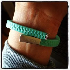"""""""Loving my Jawbone UP! It tracks my exercise, sleep and eating habits. Being healthy can be fun!"""" – Brittany"""
