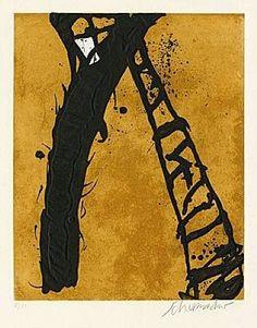 21/1990 Artist: Emil Schumacher Completion Date: 1990 Style: Tachisme Genre: abstract