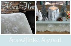 Easy Snowflake Stencil Pillows & Table Runner