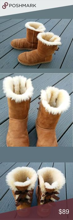 Womens UGG Brown Suede Boots Size 8 Excellent condition. They were only worn 1 time. UGG Shoes Winter & Rain Boots