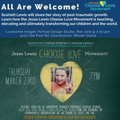 Choosing Love for Rhode Island! Please join us tomorrow, March 23rd at 7:00pm. @lovesomeimages will host a special event with Scarlett Lewis who will share her story of post traumatic growth after the unthinkable loss of her 6 year old son, Jesse, in the Sandy Hook Elementary shootings. Learn more about the Jesse Lewis Choose Love Movement visit http://www.jesselewischooselove.org/