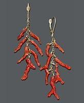 coral cascade earrings