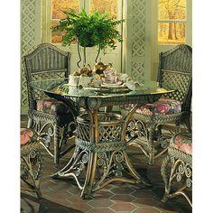 Yesteryear Gazebo 5 Piece Dining Set Upholstery Fabric: Lucian Flynt, Finish: White