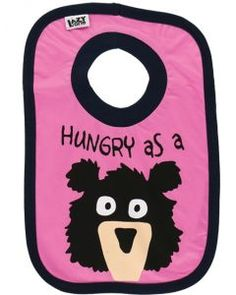 Hungry As A Bear Girtl Infant Bib by Lazy One (One Size)  Lazyone bibs have  got you covered! made from cotton 46454ae6c