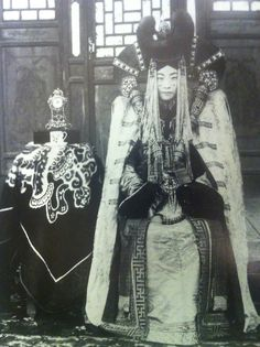A noblewoman from the Khalka people of Mongolia.  Photo taken circa 1908.