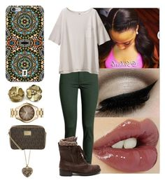 """"""""""" by yanniixo on Polyvore featuring Charlotte Tilbury, H&M, Uniqlo, DANNIJO, Wild Rose, Accessorize and MICHAEL Michael Kors"""