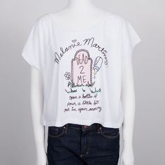 Head over to Melanie's official webstore and pick up the new Graveyard Dolman Juniors T-Shirt!