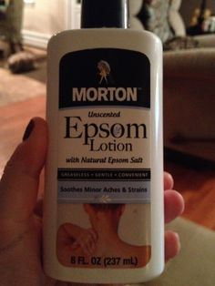 GREAT for those times when getting into the tub with Epsom salt seems like way too much work at that moment, OR when you realize you have to clean the tub first  just don't have the energy!