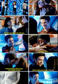 """May the speed force be with you"" - Cisco, Caitlin, Joe, Iris and Barry #TheFlash"