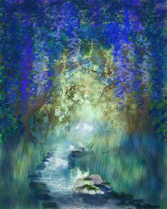 Digitale Malerei: Dschungel von Susanna Bur