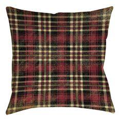 Plaid Printed Throw Pillow