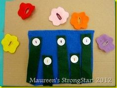 flower to buttons fine motor practice