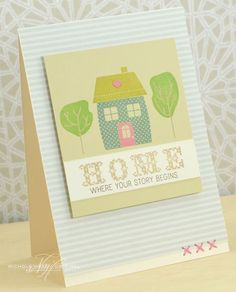 Home Card by Nichole Heady for Papertrey Ink (November 2013)