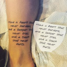 Life quote tattoo on ankle by Haris