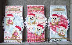 byMarleen; Christmas owls