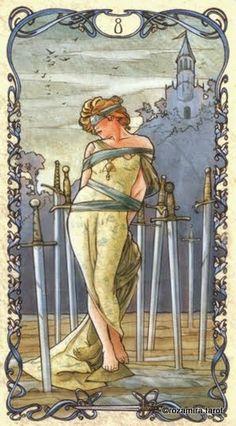 8 of Swords, Tarot Mucha