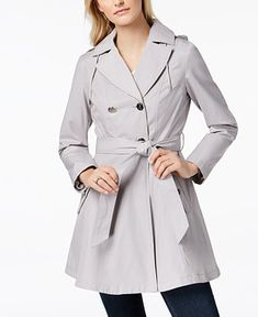 Laundry by Shelli Segal Belted Skirted Trench Coat - Coats - Women - Macy's