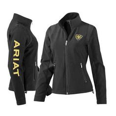 Ariat Team Black Softshell Jacket for Women ($95) found on Polyvore