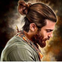 Can Yaman art Turkish Men, Turkish Beauty, Turkish Actors, Popular Mens Haircuts, Haircuts For Men, Rocker Style Men, Yogi Tattoo, Beard Boy, Cute Baby Wallpaper