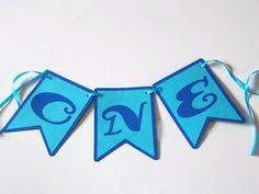 One Banner First Birthday Banner Boys First by ShopatLilys on Etsy