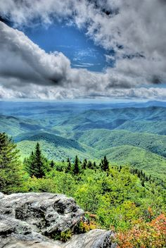 View from Devil's Courthouse - Blue Ridge Parkway near Asheville, NC