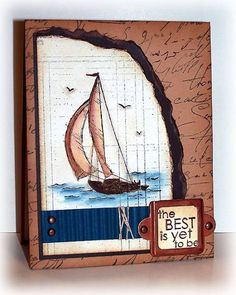 Smooth Sailing by Doodledop - Cards and Paper Crafts at Splitcoaststampers Birthday Cards For Men, Birthday Greeting Cards, Card Birthday, Retirement Cards, Retirement Greetings, Card Making Inspiration, Making Ideas, Card Tags, I Card