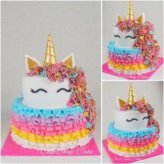 Unicorn- Einhorn Cake (from fb: Hannover ChipChap Cake) Birthday Cakes, Facebook, Mini, Desserts, Food, Unicorn, Tailgate Desserts, Anniversary Cakes, Dessert