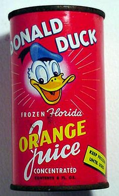 Donald Duck Orange Juice--the juice of choice in my kindergarten class!  The BEST... bring it back !