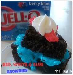 Red, White and Blue Brownies