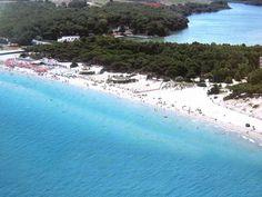 La spiaggia nei pressi dei Laghi di Alimini #Salento