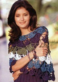 Crochet tejidos: CHALES, ESTOLAS Y PONCHOS