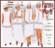 Harm's Way Vintage Dress white