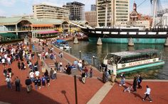 Baltimore, Maryland (Inner Harbor)...I never would have thought so, but we had a blast here...discovered UNO pizza, and it is wonderful.