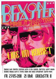 Devon Disaster gig poster (2011)