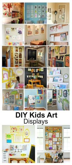 Home Decor Ideas| DIY Kids Art Displays - The Idea Room