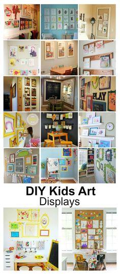 Home Decor Ideas  DIY Kids Art Displays - The Idea Room