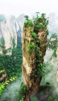 Hallelujah Mountains, China - These Chinese mountains are the inspiration for creating the environment in the movie Avatar and they are wonder of nature. (Mother Nature, never ceases to amaze moi! Zhangjiajie, Places To Travel, Places To See, Places Around The World, Around The Worlds, Chinese Mountains, Exotic Places, Natural Wonders, Belle Photo