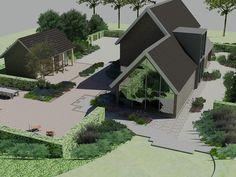 landelijke moderne tuin « Bladgoud-tuinen