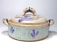 Stoneware Covered Casserole Pottery Serving Baking Casserole Dish. $49.00, via Etsy.
