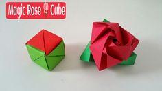 "How to make a paper ""Magic Rose  cube"" - Modular Origami Tutorial"