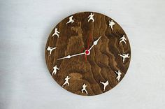 Taekwondo Karate Clock Martial arts home decor Sportmen gift