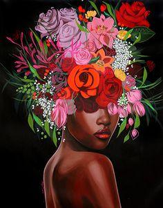 Abstract Portrait, Portrait Art, Posca Art, Ap Studio Art, Art Deco, Bohemian Art, Black Girl Art, Selling Art, Woman Painting