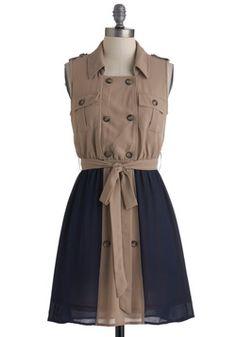 $54.99 Travel Correspondent Dress, #ModCloth